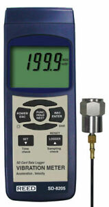 Reed Sd 8205 Vibration Meter data Logger 0 1 Mm s Resolution iso 2954