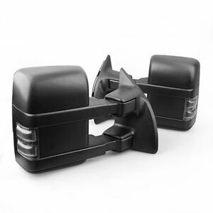 Smoke Power Heated Towing Mirrors W Signal Fit 08 16 Ford F250 F350 Super Duty