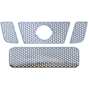 Grille Insert Guard Circle Punch Polished Stainless Fits 08 14 Nissan Titan