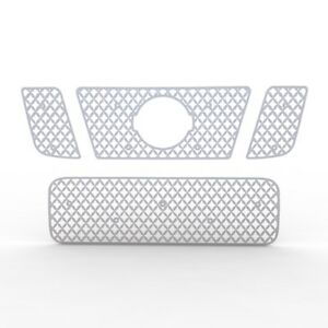 Grille Insert Guard Mesh Punch Brushed Stainless Fits 08 14 Nissan Titan