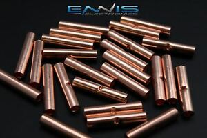 8 Gauge Copper Butt Connector 100 Pk Crimp Terminal Awg Battery Cur8