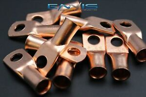 2 Gauge Copper 5 16 Ring 100 Pk Crimp Terminal Connector Awg Ga Car Eye Cur2516