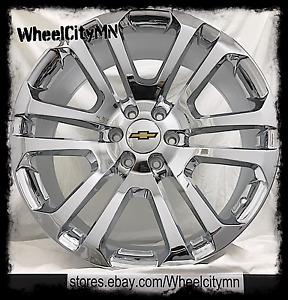 20 Inch Chrome 2015 2017 Ck158 Oe Factory Replica Chevy Suburban Ltz Rims 6x5 5
