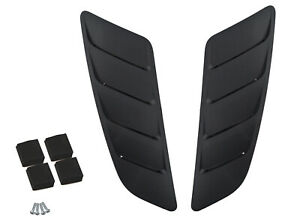 2015 2017 Ford Mustang Gt 5 0 Roush 421869 Hood Vent Heat Extractors Black Pair