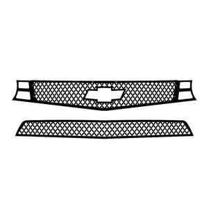 Grille Insert Guard Mesh Punch Black Fits 10 13 Chevy Camaro