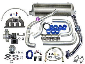 Cxracing Turbo Kit D series 92 2000 Civic Complete T3 t4 Turbo Kit Cast Manifold