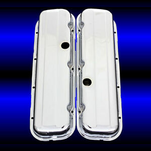 Chrome Valve Covers Factory Height For Big Block 396 427 454 502 Engines