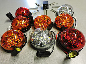 Land Rover Series 2 Series 3 Led Upgrade Lamps Kit 73 Mm Led Style Kit Wipac New