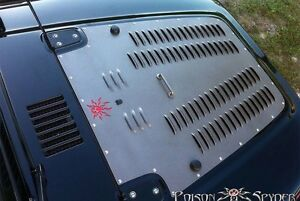 1987 1995 Jeep Wrangler Poison Spyder Customs Hood Louver 13 53 010