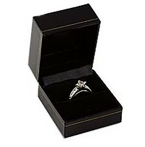 Wholesale Lot Of 24 Black Classic Ring Jewelry Display Presentation Gift Boxes