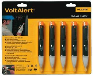 Fluke Flk 1ac a1 ii 5pk Voltalert Ac Non contact Voltage Tester pack Of 5