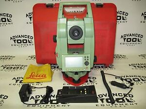 Leica Tcr407 Reflectorless Total Station Transit Level W Battery