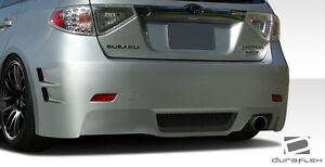 08 11 Impreza 5dr 08 10 Wrx Duraflex C speed 3 Rear Bumper 1pc Body Kit 107867