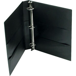 Avery Durable Binder W two Booster Ezd rings 1 Inch Black 6ct