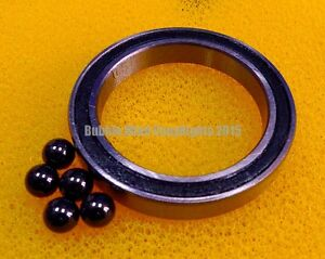 4pcs 6703 2rs 17x23x4 Mm Hybrid Ceramic Chrome Metal Ball Bearing Bearings