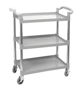 Plastic Utility Bus Cart 350lbs Cap Knock down C 23wl