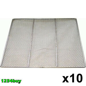 10 Pc Stainless Steel Donuts Frying Screens 23 x23 24 Gauge Dn fs23 16 Mesh