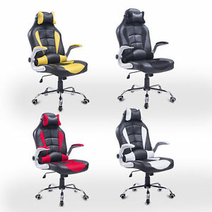 Racing Office Chair Adjustable Recliner Gaming Computer Ergonomic High Back