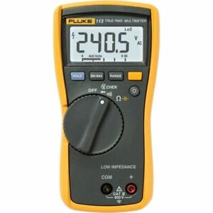 Fluke 113 True rms Utility Multimeter Display Backlight Vchek Loz Function