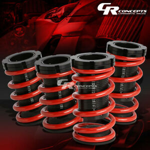 For 92 96 Mazda Mx 3 Lowering 0 3 Adjustable Scale Black Coilover Red Springs