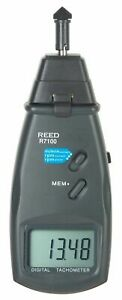 Reed R7100 Photo Contact Autoranging Tachometer 5 digit Lcd Display