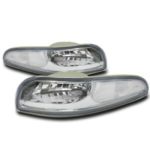 97 04 Chevy Corvette C5 Z06 Bumper Signal Parking Lights Lamp Chrome 00 01 02 03