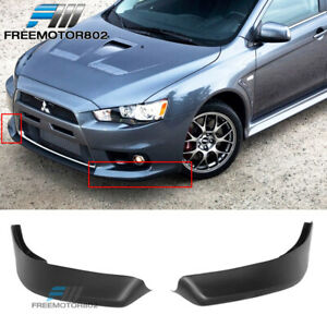 For 08 09 10 11 12 13 1415 Mitsubishi Lancer Oe Style Front Bumper Lip 2pcs Pp