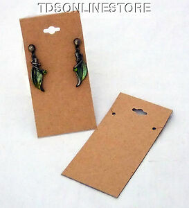 100 Pack Of Kraft Necklace Or Long Earring Display Cards 4 Inch