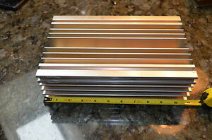Large Reclaimed Extruded Aluminum Heatsink 11 x6 75 x3 1 Audio Amp Heavy Weight