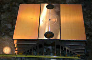 Large Reclaimed Extruded Aluminum Heatsink 5 0x6 75 x3 1 Audio Amp Heavy Weight