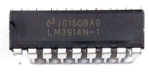 30pcs National Semiconductor Lm3914n 1 Lm3914 Display Driver Dip 18 New Ic