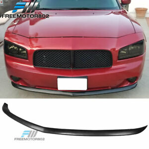 For 2006 2010 Dodge Charger Oe Style Front Bumper Lip Unpainted Urethane Black