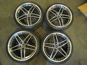 Ac Schnitzer Type Viii 8 22x10 22x9 5 2 Piece Wheel Set Forged Mint