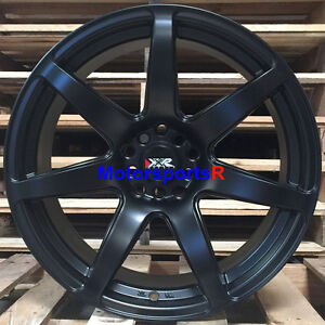 Xxr 560 Wheels 18 X 8 5 Flat Black 35 Concave Rims 5x114 3 06 16 Honda Civic Si