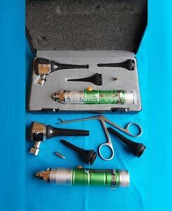 Ent Fiber Optic Otoscope Diagnostic Set Veterinary Pet Kit 1 Alligator 1 B