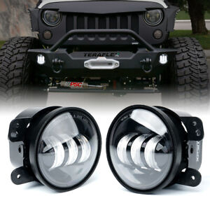 2pc 4 60w Cree Led Fog Light 6000k White Lights Jeep Wrangler Jk