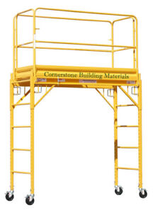 Mfs Scaffold Rolling Tower 29 X 6 Deck 6 Feet High With Guard Rail Cbm