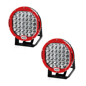 Xprite Red 2x 9 Inch 96w Driving Spot 5w Cree Led Work Light Offroad Round Lamp