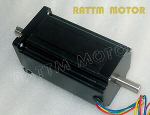Cnc Quality dual Shaft Nema34 Stepper Motor 154mm 1600 Oz in 5a Stepping Motor