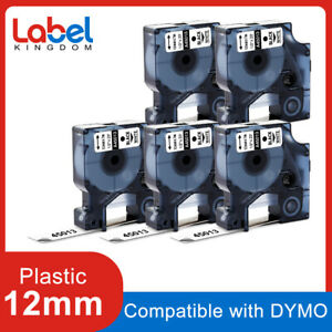 5 45013 S0720530 Label Tape Compatible For Dymo Labelmanager 12mm Black On White