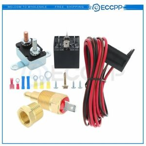 175 185 Electric Fan Thermostat Temperature Relay Wiring Wsitch Kit For 330 351w