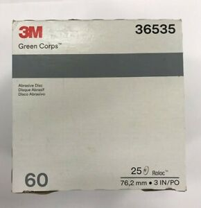 3m Green Corps Roloc Grinding Discs 3 36 grit 01407