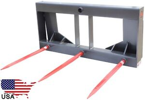 Ua Made In The Usa Hd Skid Steer Hay Bale Attachment With 27 Spears