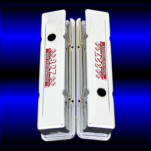 Sbc 327 Tall Valve Covers For Small Block Chevy 327 With 327 Emblems Chrome