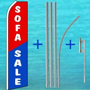Sofa Sale Flutter Flag 15 Tall Pole Mount Kit Feather Swooper Banner Sign