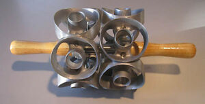 1ea 2 Size Two Row Mini Donut Cutter Cuts 14 Cuts New From Factory
