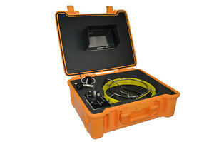 30m Pipe wall Sewer Snake Inspection Camera Kit 7 Lcd Color Mon Dvr Waterproof