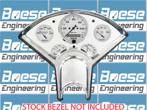55 56 Chevy Billet Aluminum Dash Panel Insert W Auto Meter Old Tyme White Gps