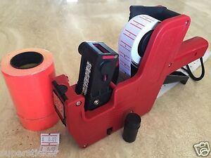 Us Seller Mx 5500 8 Digits Price Tag Gun Labeler 2000 Red Tags Labels 1 Ink