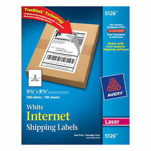 Avery Laser Mailing Labels 5 1 2 X 8 1 2 White 200ct